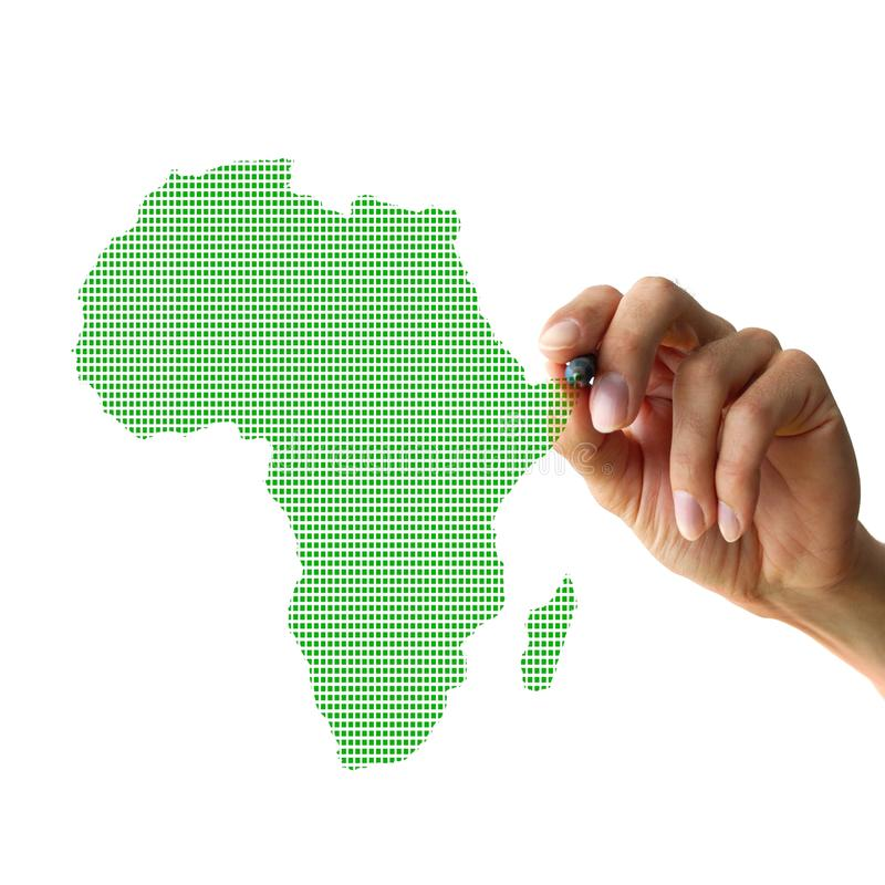 χέρι σχεδίων της Αφρικής διανυσματική απεικόνιση