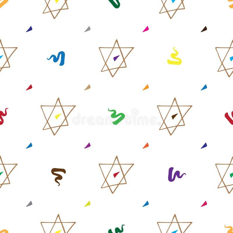 Χέρι σχεδίων Mitzvah φραγμών που σύρεται ελεύθερη απεικόνιση δικαιώματος