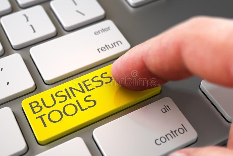 Χέρι σχετικά με το κλειδί επιχειρησιακών εργαλείων τρισδιάστατος στοκ φωτογραφία