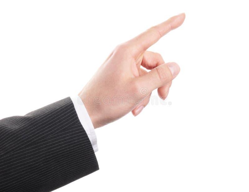 Χέρι σχετικά με στοκ εικόνα