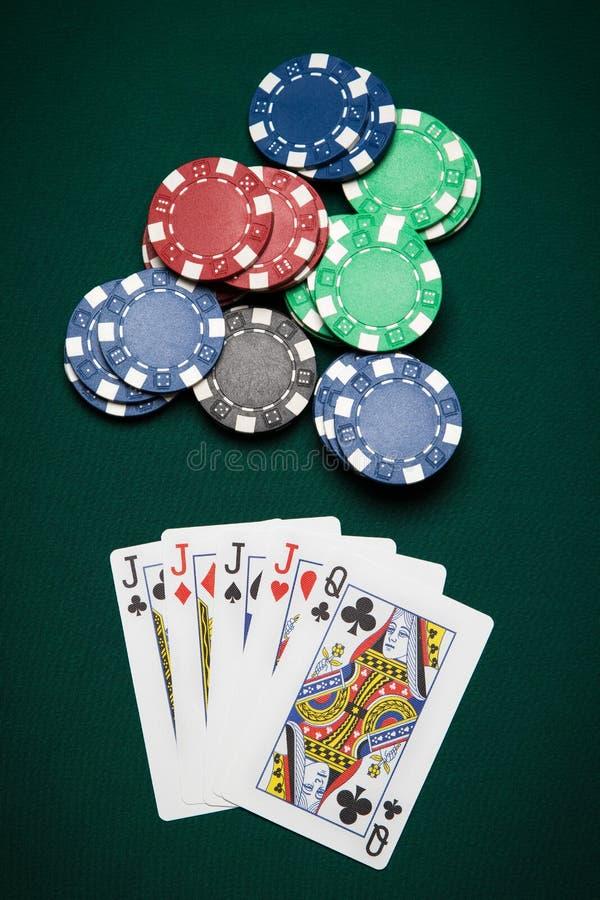 Χέρι τέσσερα πόκερ ενός είδους στοκ εικόνα με δικαίωμα ελεύθερης χρήσης