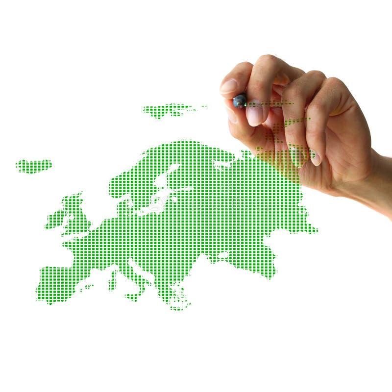 χέρι της Ευρώπης σχεδίων στοκ εικόνες