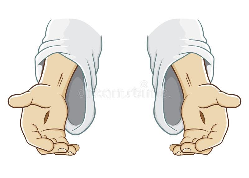 Χέρι του Ιησούς Χριστού που φτάνει ελεύθερη απεικόνιση δικαιώματος