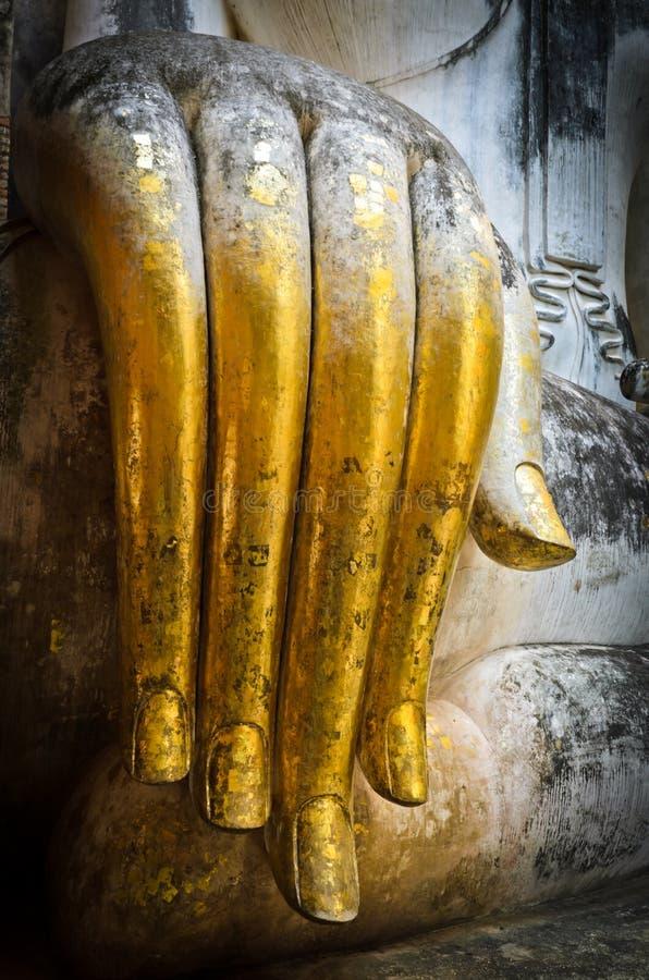 Χέρι του μεγάλου Βούδα στοκ εικόνα