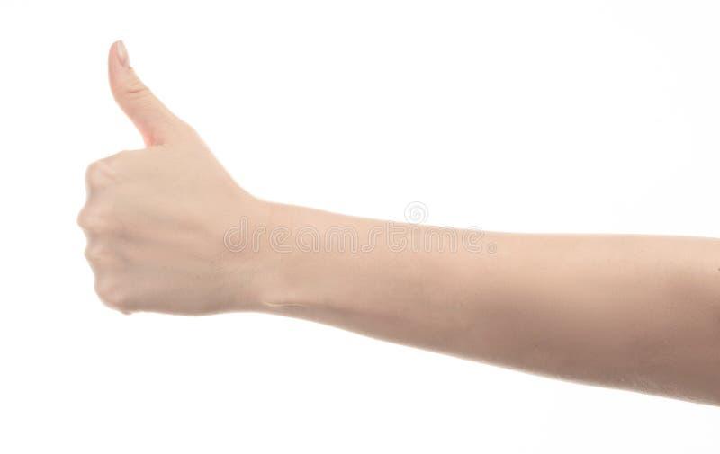 Χέρι του νέου κοριτσιού στο άσπρο υπόβαθρο στοκ φωτογραφία με δικαίωμα ελεύθερης χρήσης