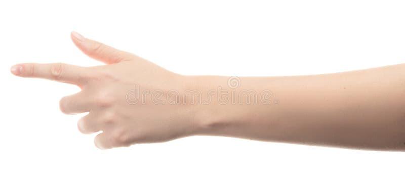 Χέρι του νέου κοριτσιού στο άσπρο υπόβαθρο στοκ εικόνες με δικαίωμα ελεύθερης χρήσης