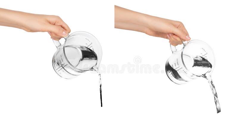 Χέρι του νέου κοριτσιού στο άσπρο υπόβαθρο στοκ φωτογραφίες