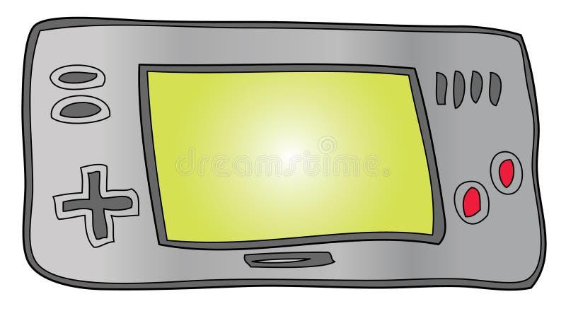 χέρι τυχερού παιχνιδιού συσκευών - που κρατιέται διανυσματική απεικόνιση