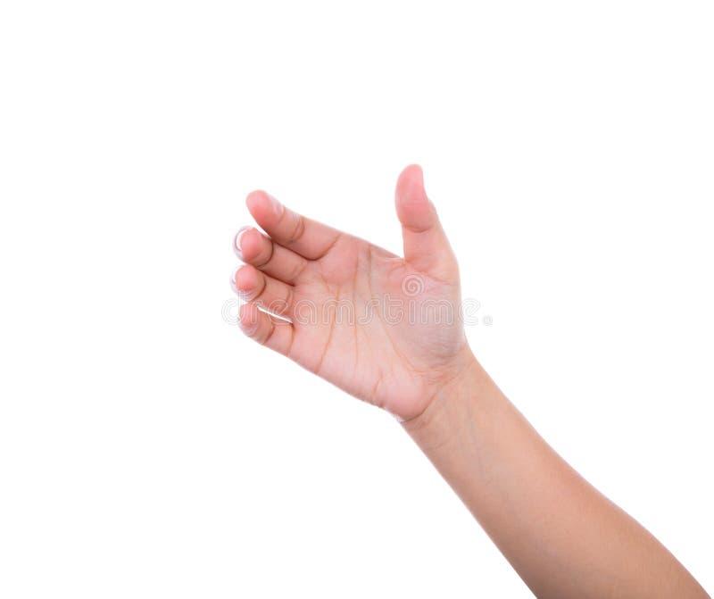 Χέρι των γυναικών για να κρατήσει την κάρτα, το κινητό τηλέφωνο, το PC ταμπλετών ή άλλου στοκ εικόνα με δικαίωμα ελεύθερης χρήσης