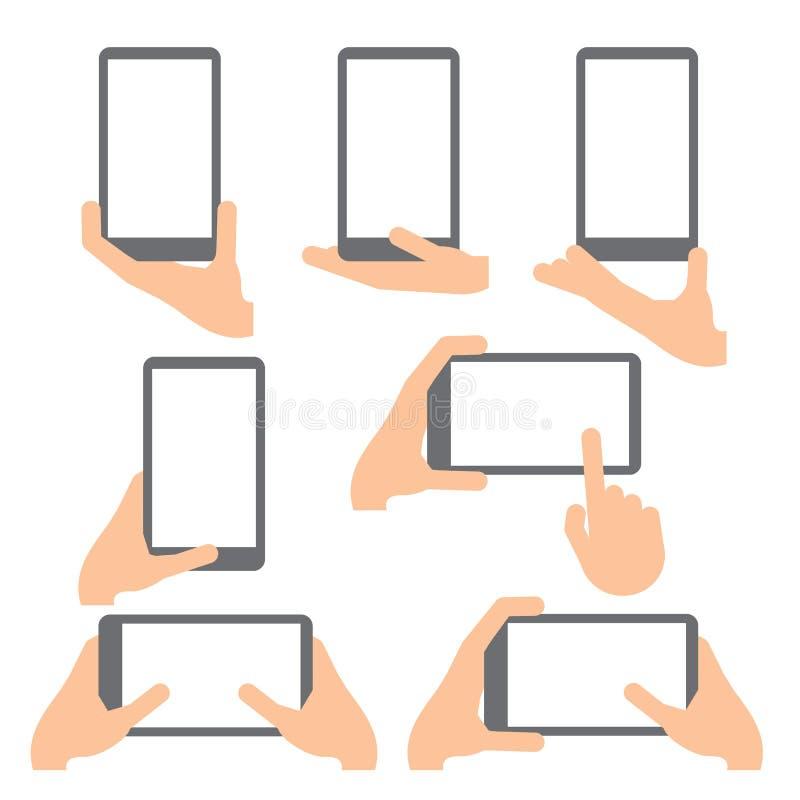 χέρι χειρονομιών Εικονίδια γραμμών καθορισμένα απεικόνιση αποθεμάτων