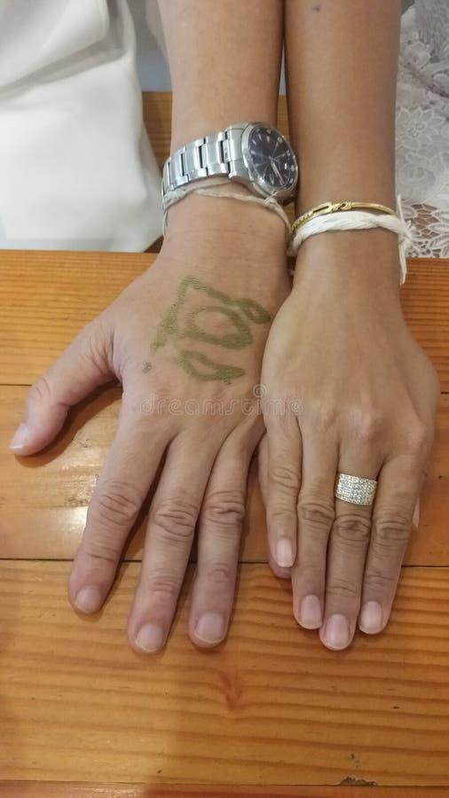 Χέρι δύο inlove στοκ φωτογραφίες