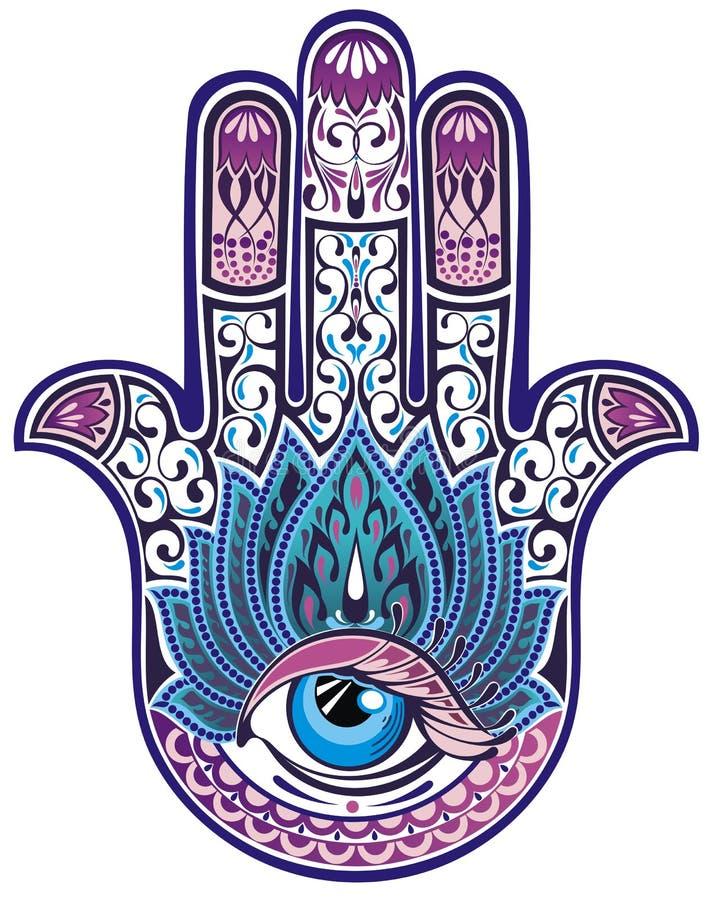 Χέρι Hamsa ελεύθερη απεικόνιση δικαιώματος