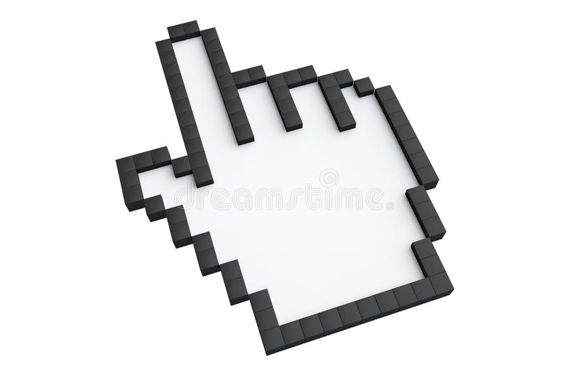 Χέρι Pixelated ελεύθερη απεικόνιση δικαιώματος