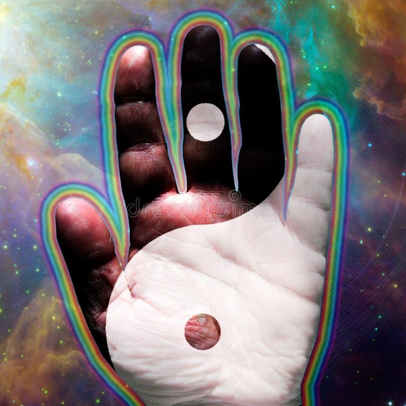 Χέρι Yin Yang ελεύθερη απεικόνιση δικαιώματος
