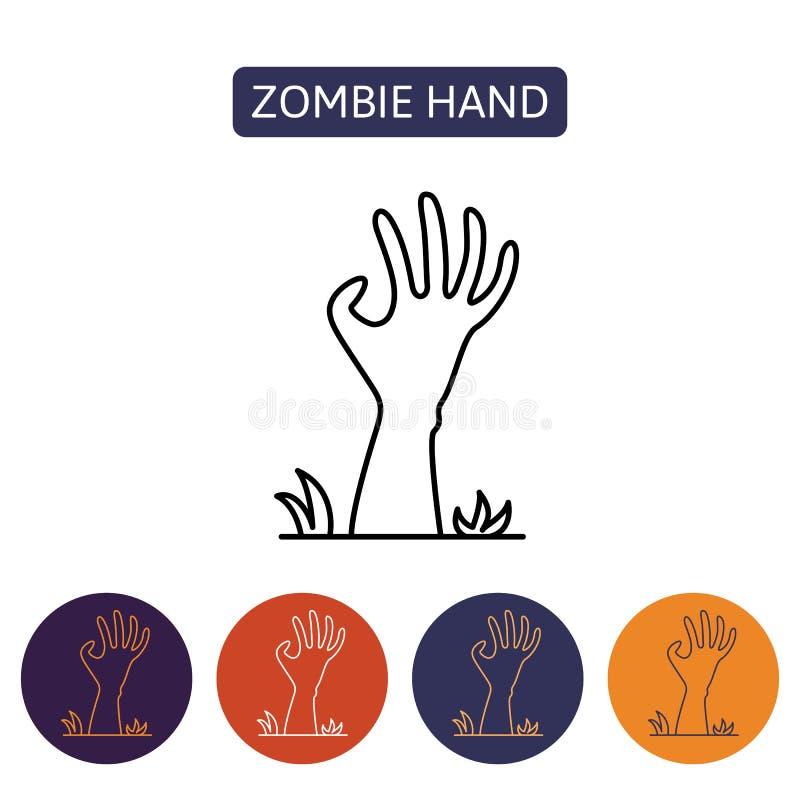 Χέρι Zombie από την κόλαση ελεύθερη απεικόνιση δικαιώματος
