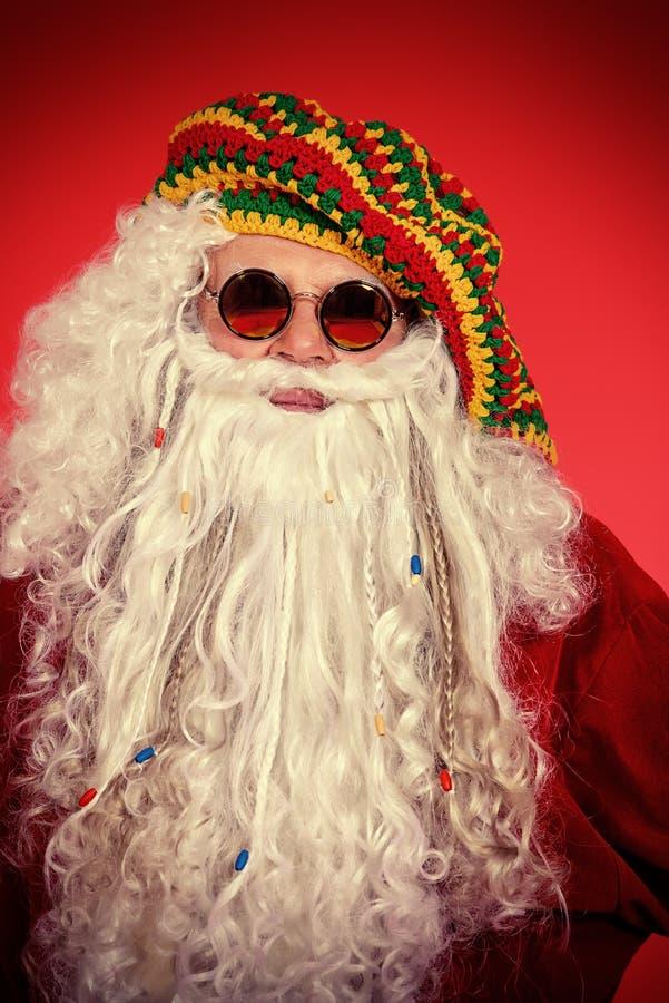 Χίπης Santa στοκ φωτογραφία με δικαίωμα ελεύθερης χρήσης