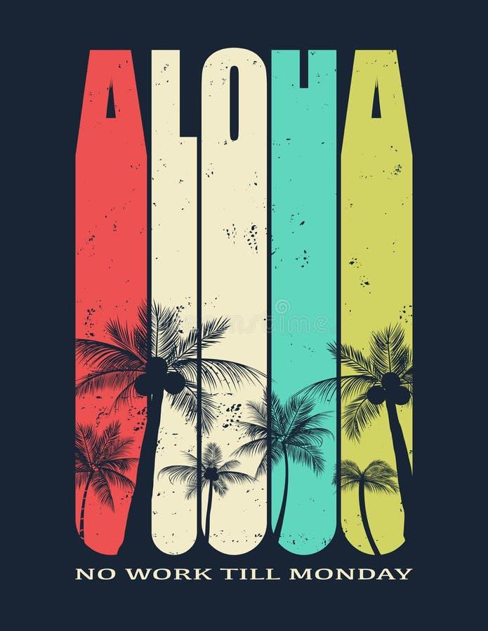 Χαβάη, διανυσματική απεικόνιση Aloha απεικόνιση αποθεμάτων