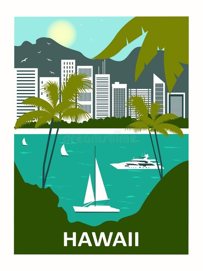 Χαβάη ΗΠΑ διανυσματική απεικόνιση