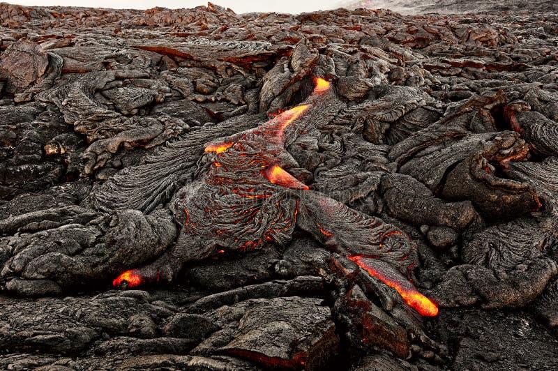 Χαβάη - η λάβα προκύπτει από μια στήλη της γης στοκ φωτογραφία με δικαίωμα ελεύθερης χρήσης