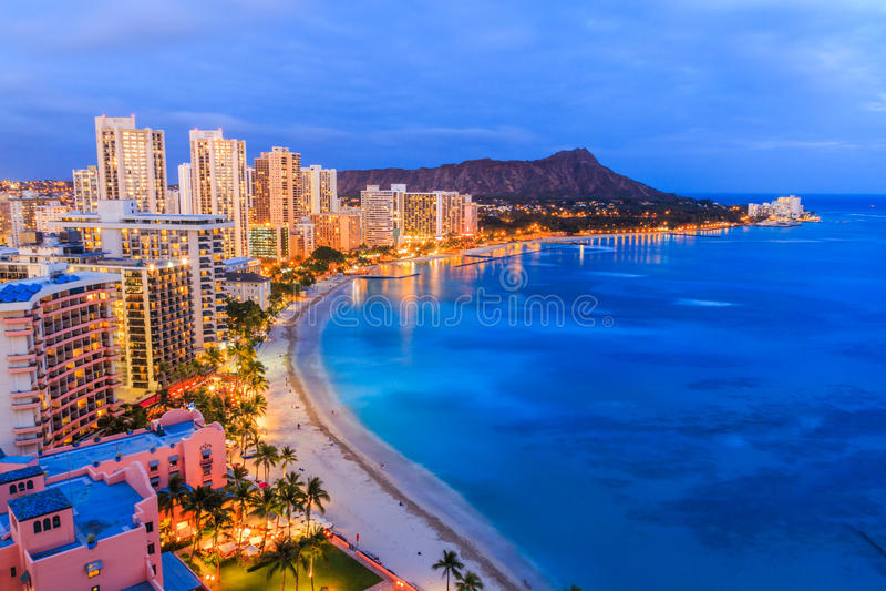 Χαβάη Χονολουλού στοκ φωτογραφία με δικαίωμα ελεύθερης χρήσης