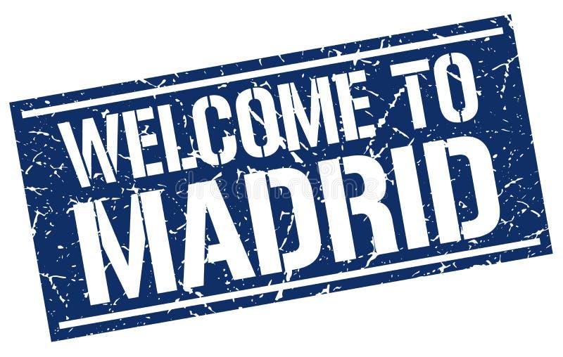 Χαιρετίστε στη Μαδρίτη το γραμματόσημο ελεύθερη απεικόνιση δικαιώματος