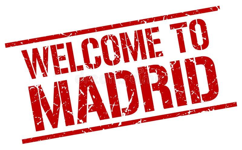 Χαιρετίστε στη Μαδρίτη το γραμματόσημο διανυσματική απεικόνιση