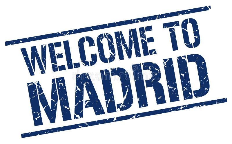 Χαιρετίστε στη Μαδρίτη το γραμματόσημο απεικόνιση αποθεμάτων