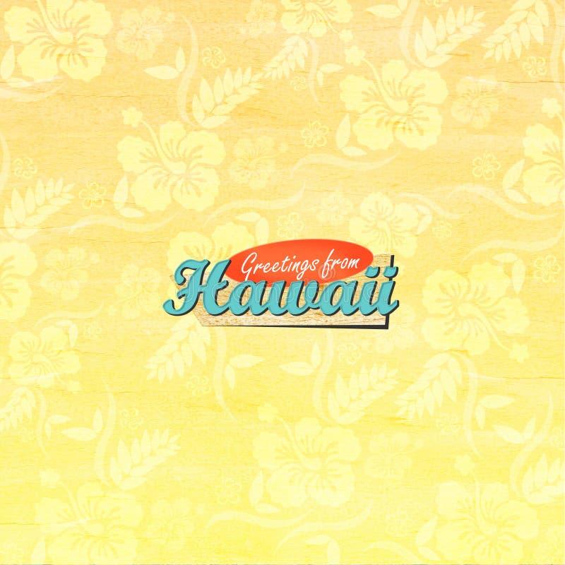 Χαιρετισμοί από τη Χαβάη στοκ εικόνα με δικαίωμα ελεύθερης χρήσης