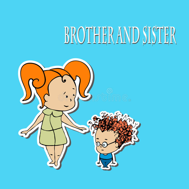 Χαιρετισμοί αδελφών και αδελφών αποθεμάτων διανυσματική απεικόνιση
