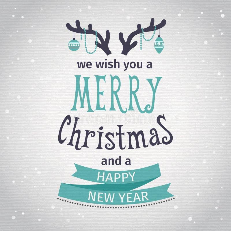 χαιρετισμός καλή χρονιά καρτών του 2007 Εγγραφή Καλών Χριστουγέννων διανυσματική απεικόνιση