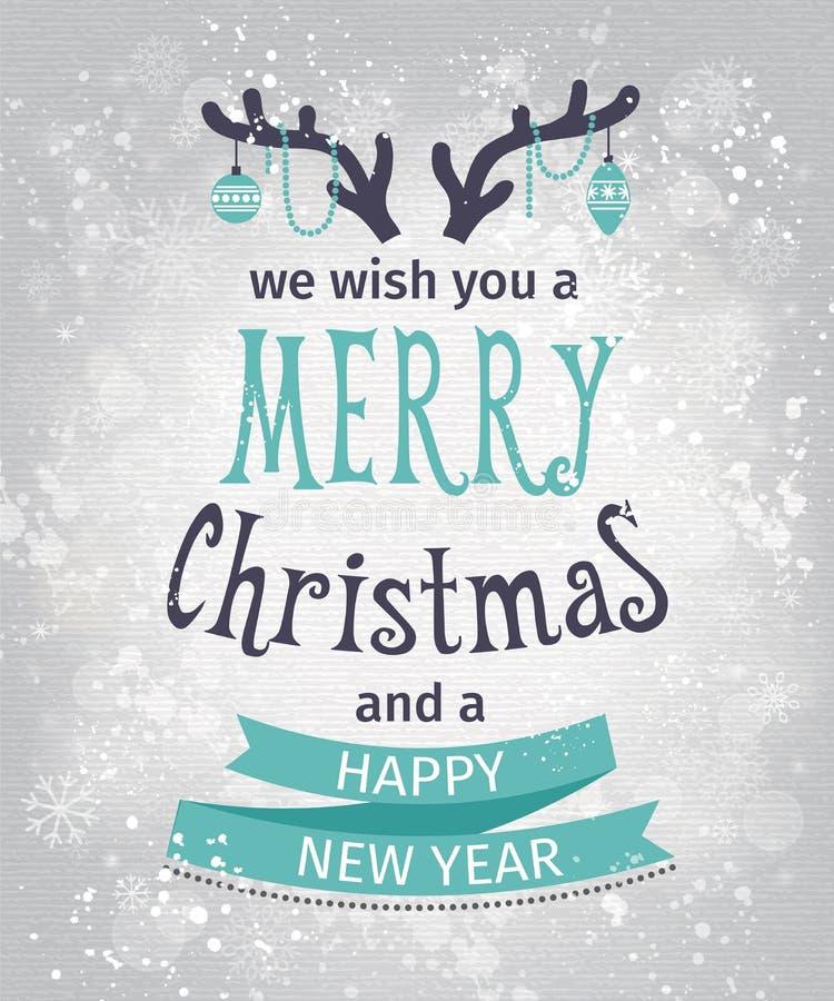 χαιρετισμός καλή χρονιά καρτών του 2007 Εγγραφή Καλών Χριστουγέννων ελεύθερη απεικόνιση δικαιώματος