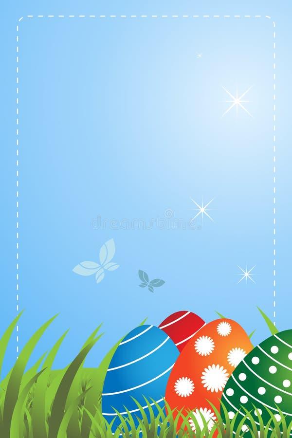 χαιρετισμός Πάσχας καρτών απεικόνιση αποθεμάτων