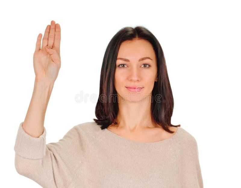Χαιρετισμός σημαδιών στοκ φωτογραφία