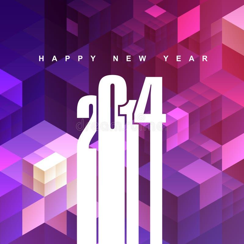 χαιρετισμός του 2014 διανυσματική απεικόνιση