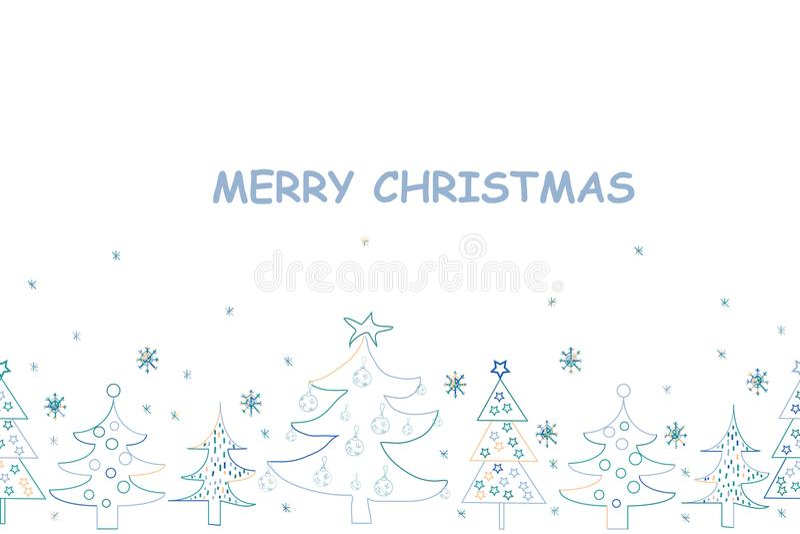 χαιρετισμός Χριστουγέννων καρτών Συρμένο χέρι υπόβαθρο διακοπών με Sant διανυσματική απεικόνιση