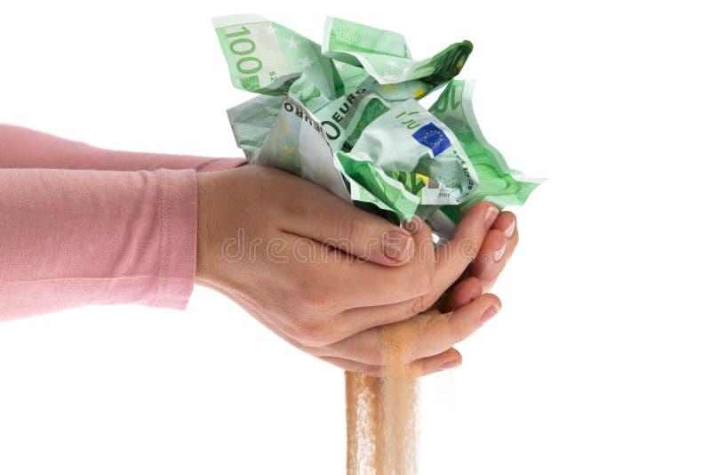 χαλάρωμα των χρημάτων στοκ εικόνες