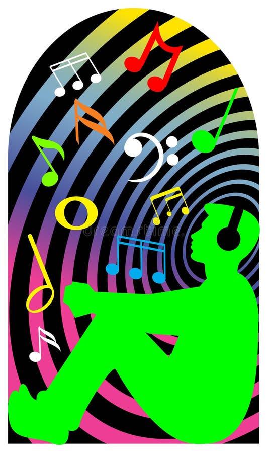 χαλάρωση μουσικής διανυσματική απεικόνιση