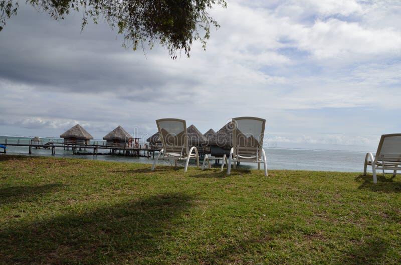 Χαλάρωση στην Ταϊτή στοκ φωτογραφία με δικαίωμα ελεύθερης χρήσης