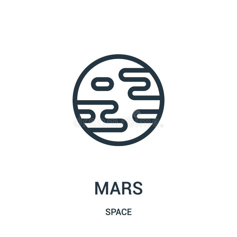 χαλά το διάνυσμα εικονιδίων από τη διαστημική συλλογή Η λεπτή γραμμή χαλά τη διανυσματική απεικόνιση εικονιδίων περιλήψεων απεικόνιση αποθεμάτων