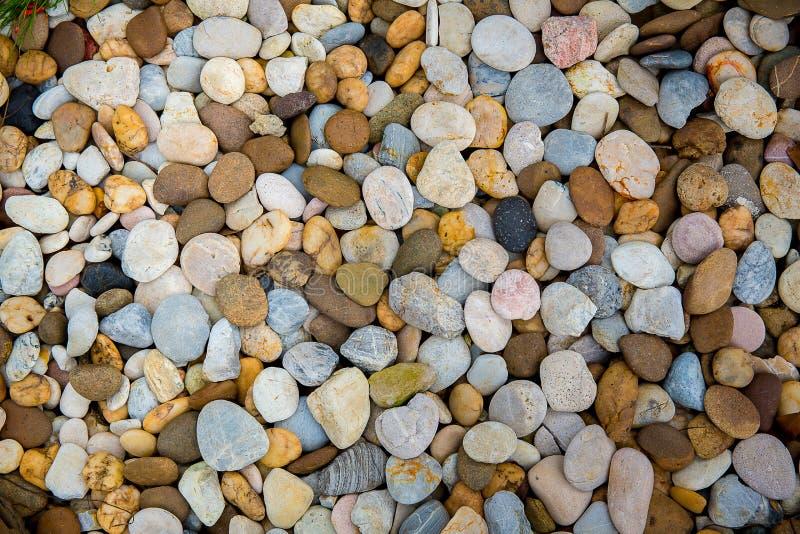 Χαλίκια θάλασσας Μικρό υπόβαθρο σύστασης αμμοχάλικου πετρών Σωρός των χαλικιών, Ταϊλάνδη Πέτρα χρώματος στοκ φωτογραφίες