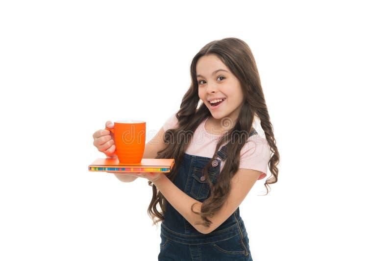 Χαλαρώστε και επαναφορτίστε Έννοια ισορροπίας νερού Απόλαυση του τσαγιού πριν από τις σχολικές τάξεις Ποτό έμπνευσης Χαριτωμένο π στοκ εικόνες