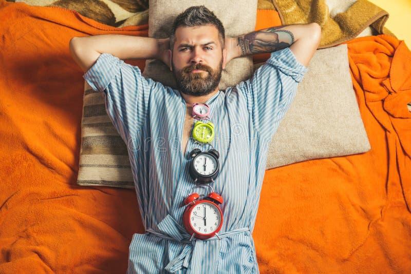 Χαλαρώστε και ξυπνήστε, χρόνος στοκ εικόνες
