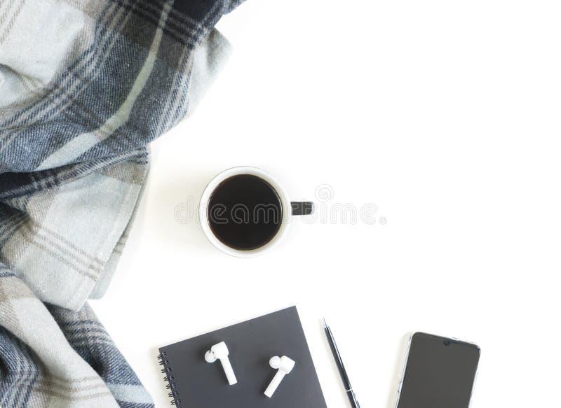 Χαλαρώστε με τον καφέ και την έννοια μουσικής στοκ εικόνες