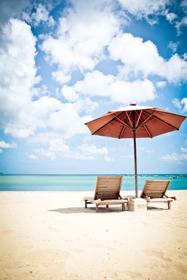 Χαλαρώστε στην παραλία Jimbaran, Μπαλί Ινδονησία στοκ εικόνες
