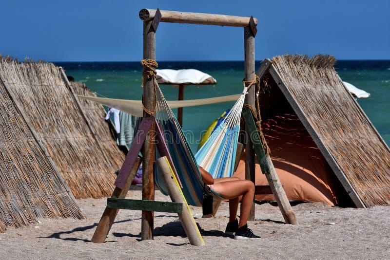 Χαλαρώστε στην παραλία Vama Veche, Ρουμανία στοκ εικόνες