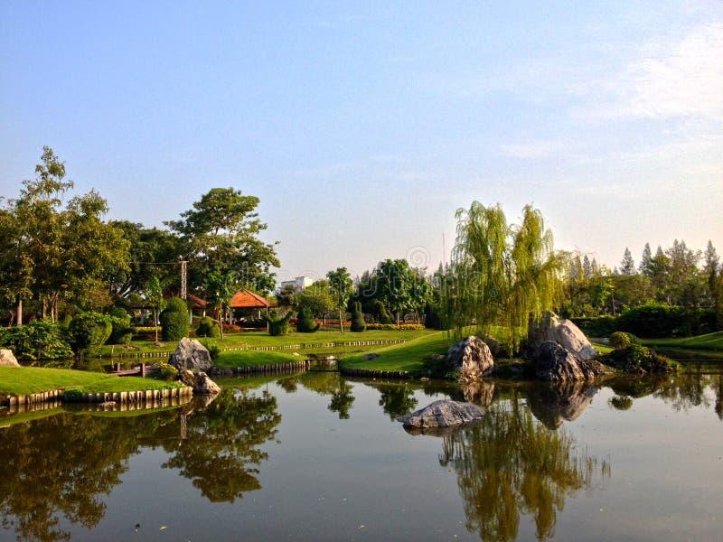 Χαλαρώστε στο πάρκο και τη φύση του βραδιού στοκ εικόνα με δικαίωμα ελεύθερης χρήσης