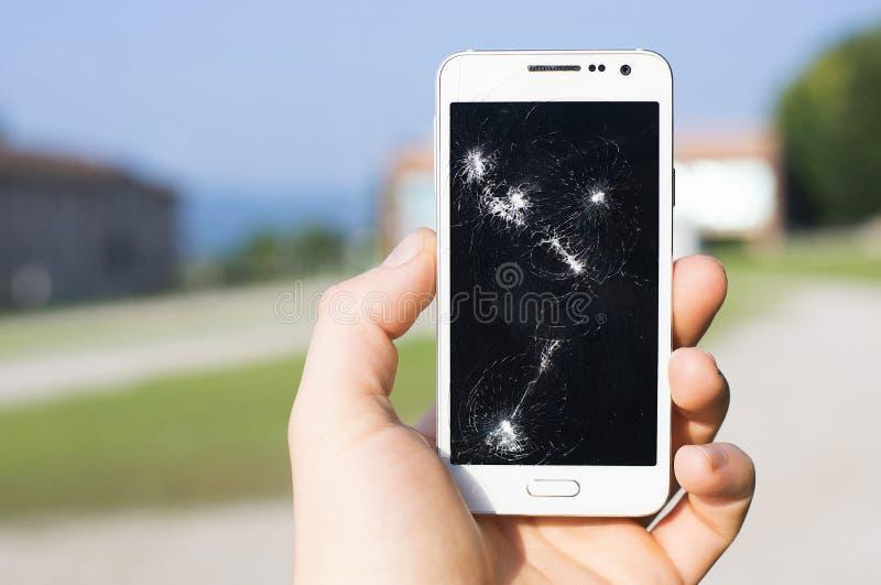 Χαλασμένη επίδειξη Smartphone στοκ φωτογραφία με δικαίωμα ελεύθερης χρήσης