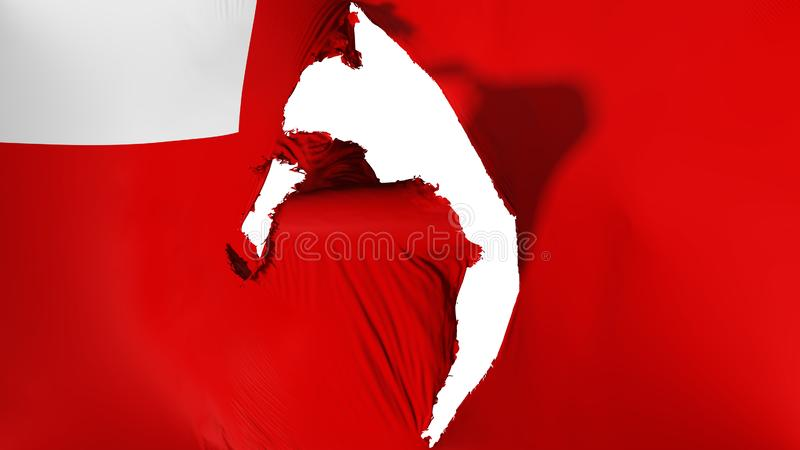 Χαλασμένη σημαία του Αμπού Νταμπί ελεύθερη απεικόνιση δικαιώματος