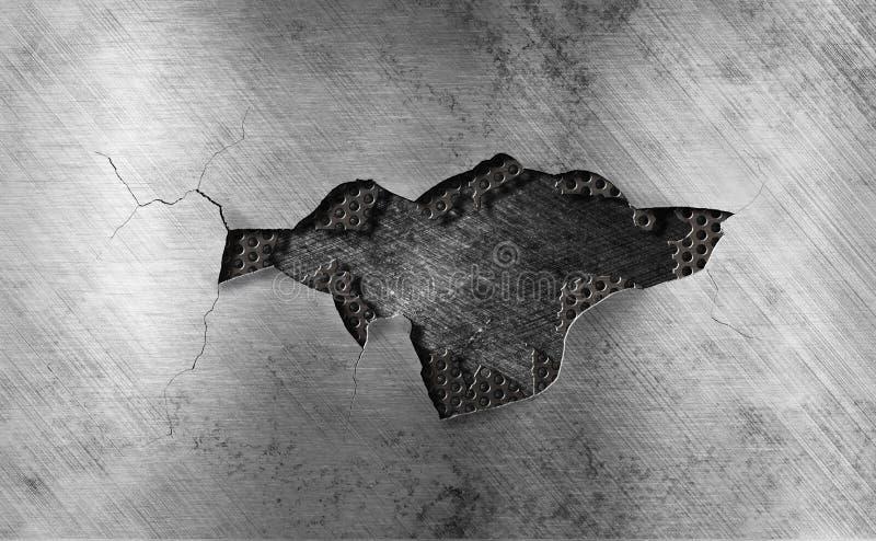 χαλασμένο ανασκόπηση μέταλλο σχαρών στοκ εικόνες