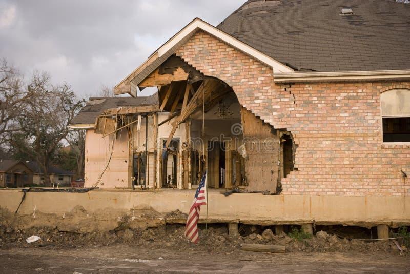 χαλασμένο μπροστινό σπίτι π&rh στοκ εικόνα με δικαίωμα ελεύθερης χρήσης
